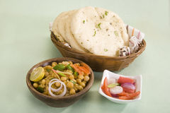 Matra Chaat with Kulcha royalty free stock images