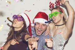 Matraquage de Santa photos stock