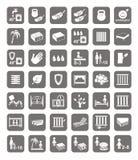 Matrassen, bedden, matrasdekking, kentekens Royalty-vrije Stock Foto