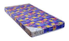 Matratze gemacht von komprimiertem Schaumblatt Stockbild
