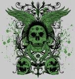 Maître à ailes de crâne Image libre de droits