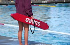 Maître nageur Images stock