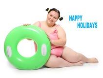 Maître nageur drôle. Photo stock