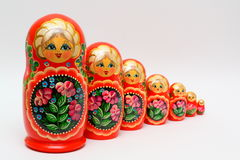 Matreschka. There are old russian toys Stock Images