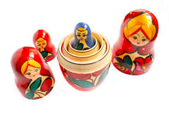 Matreshka. The traditional russian souvenir, wooden doll Stock Images