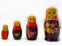 Matreshka. Set of nesting dolls Stock Image