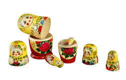 Matreshka_constructor. Russian dolls separated as constructor on  background Royalty Free Stock Photo