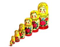 Matreshka_diagonal Stock Photos