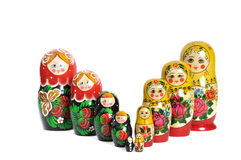 Matreshka doll isolated Royalty Free Stock Photos