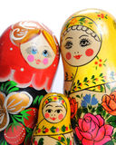 Matreshka line. Matreshka stand in a number on growth Royalty Free Stock Photography