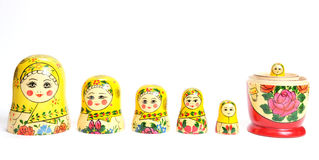 Matreshka line isolated Royalty Free Stock Images