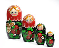 Matreshka line izolated Stock Photos