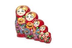 Matreshka russo della bambola isolato su fondo bianco Immagini Stock