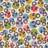 Matreshka toy seamless pattern. Royalty Free Stock Images