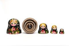 Matreshka tradicional ruso de la muñeca Fotografía de archivo libre de regalías