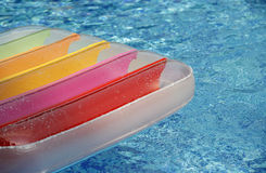 Matress in pool royalty-vrije stock fotografie