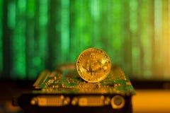 Matrice d'exploitation de Bitcoin image libre de droits