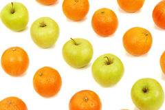 Matrice de fruit d'Apple et d'oranges Photo stock