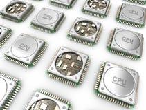 Matrice dei CPU Unità dell'unità centrale di elaborazione Immagini Stock