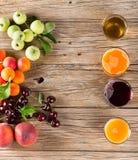 Matrice dei succhi della frutta fresca Fotografia Stock