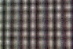 Matrice del colpo di macro dello schermo dell'affissione a cristalli liquidi immagini stock