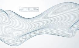 Matrice delle particelle che scorrono, onda sonora dinamica illust 3d illustrazione vettoriale
