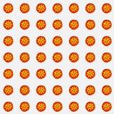Matrice delle pizze su fondo bianco per la carta di regalo, la pubblicità di prodotto, o i grafici di web fotografia stock libera da diritti