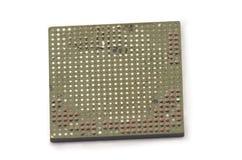 Matrice di griglia della palla & x28; BGA& x29; chip desoldered e rovinati male Consequ Fotografia Stock Libera da Diritti