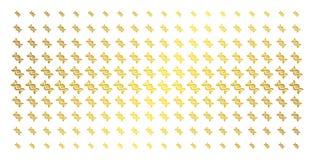 Matrice di semitono dorata a spirale del DNA royalty illustrazione gratis
