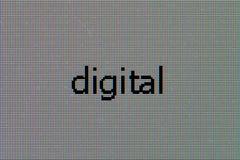 Matrice du moniteur d'affichage à cristaux liquides avec le mot - digital images libres de droits