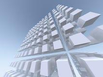 Matrice grande et vertigineuse de cube Photos libres de droits