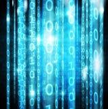 Matrice numérique bleue sur l'écran illustration libre de droits