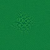 Matrice numérique de fond de papier peint avec le code binaire illustration de vecteur
