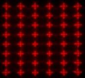 Matrice rouge de LED images stock