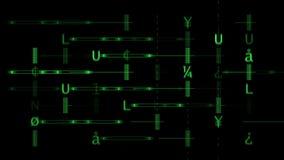 Matrice verde di alfabeto illustrazione vettoriale