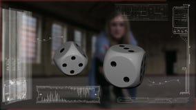 Matrices avec l'effet de temps clips vidéos