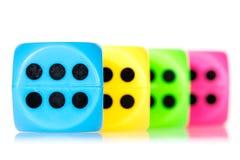 Matrices colorées alignées Photos stock