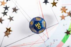 Matrices d'astrologie avec le symbole de la planète Uranus photos libres de droits