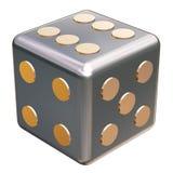 Matrices de jeu métalliques illustration stock