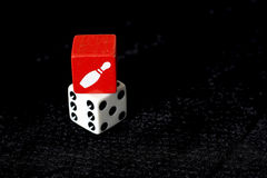 Matrices de rouge et de blanc sur le fond noir Photo libre de droits