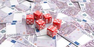 matrices du rendu 3d sur 500 billets de banque d'euros Images stock