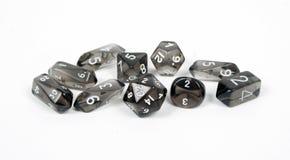 Matrices noires, runes d'isolement sur le fond blanc Photo libre de droits