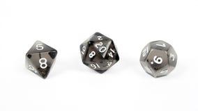 Matrices noires, runes d'isolement sur le fond blanc Photo stock