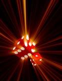 Matrices rouges avec les faisceaux de lumière illustration de vecteur