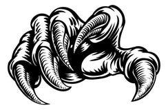 Matrici del mostro della mano dell'artiglio Fotografia Stock
