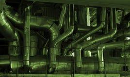 Matériel, câbles et tuyauterie Image libre de droits
