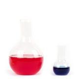 Matériel de laboratoire en verre Photo stock