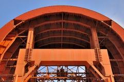 Matériel fonctionnant de tunnel dans la forme de voûte Images libres de droits