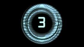 Matrijsaftelprocedure het tellen van nummer 5 tot 0 stock footage