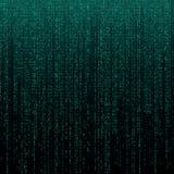 Matrijstextuur met cijfers De binaire code, vat futuristische cyberspace achtergrond samen Gegevens analisys patroon vector illustratie